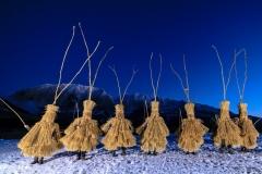 Schab in der Abenddämmerung, blaue Stunde, vor dem winterlichen Grimming, Foto: Martin Huber