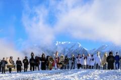 Gruppenfoto vor Kulisse des Grimmings, Foto: Martin Huber